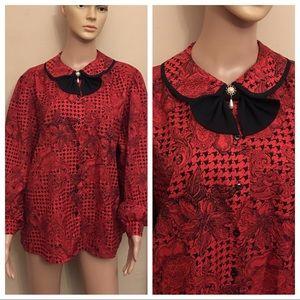 Judy Bond vintage button down blouse